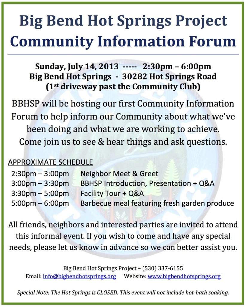 BBHSP Community Information Forum Flyer #1