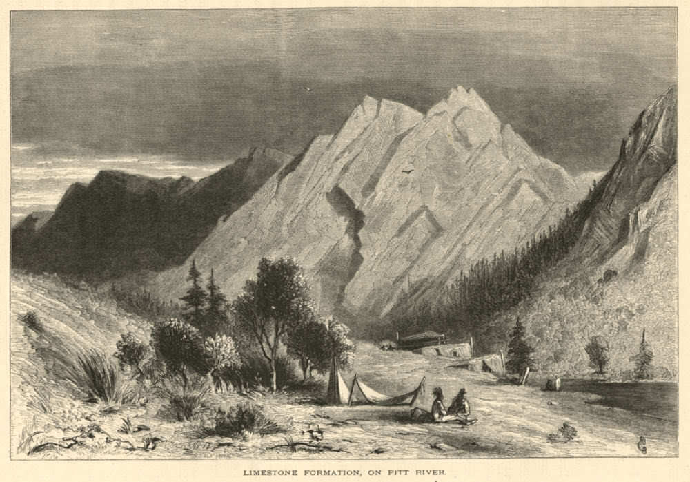 Native Camp on Pit River 1872