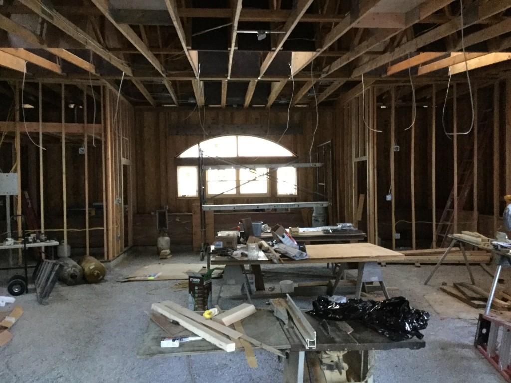 Straw Hall Interior Framing